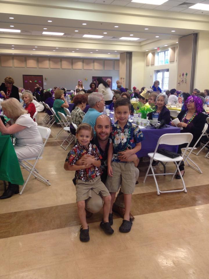 Manny and his Sons enjoy spending time at the Towns Senior Events.