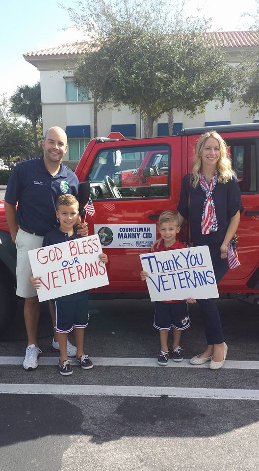 Manny Cid and his family Appreciate our Veterans and their sacrifices for our freedom.